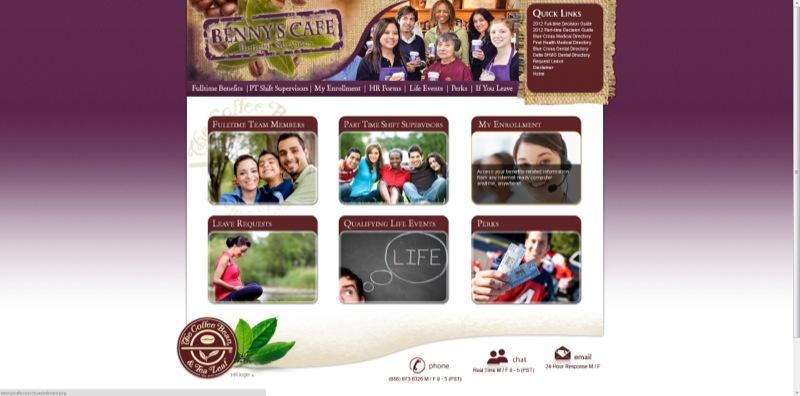 Coffee Bean & Tea Leaf Benefits Website